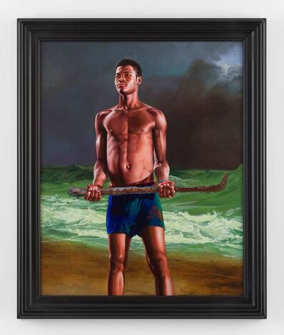 Kehinde Wiley, 'Fishermen Upon a Lee-shore, in Squally Weather (Andielo Pierre)', 2017