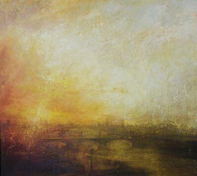 Benjamin Warner, 'Sunset, towards Battersea Power Station', 2016