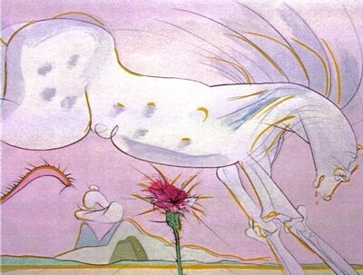 Salvador Dalí, 'Le Cheval et le Loup (The Horse and the Wolf)', 1974