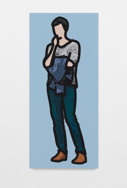 Julian Opie, 'Man in a stripey t-shirt with his jacket over his arm', 2013