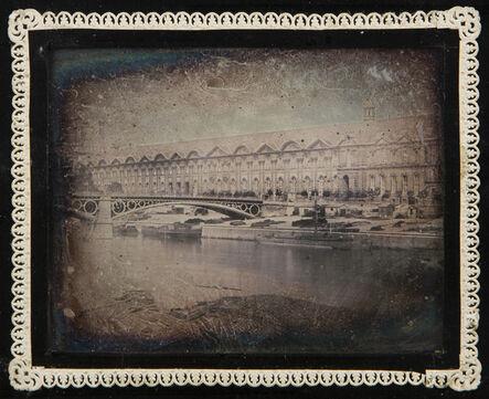Daguerreotypes, 'Pont du Carrousel and the Grande Galerie du Louvre, Paris', 1840, 45/1840, 45