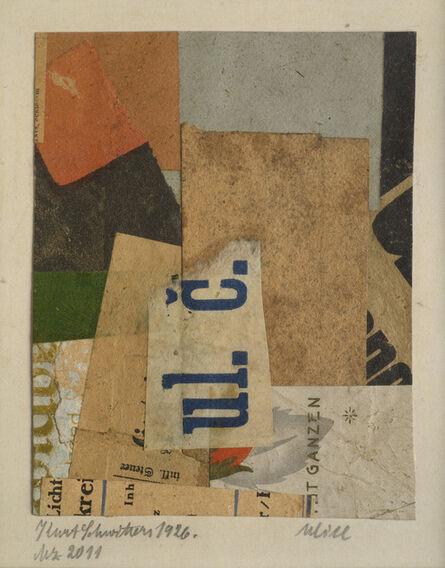 Kurt Schwitters, 'Mz 2011 Ulice', 1926