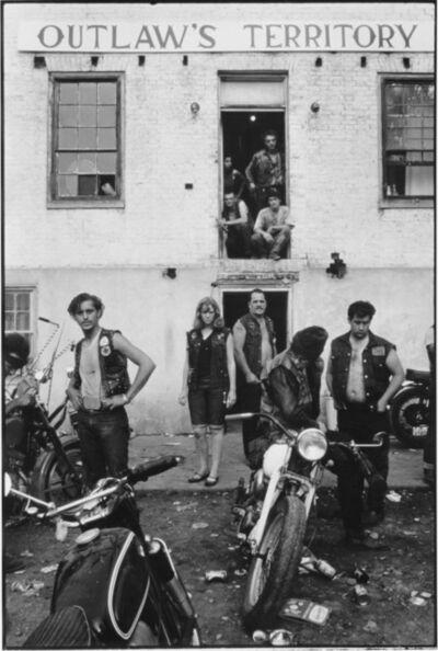 Danny Lyon, 'Clubhouse during the Columbus run, Dayton, Ohio, The Bikeriders Portfolio', 1966