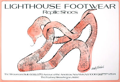 Andy Warhol, 'Andy Warhol Shoes poster 1979 (Andy Warhol reptile shoes)', 1979