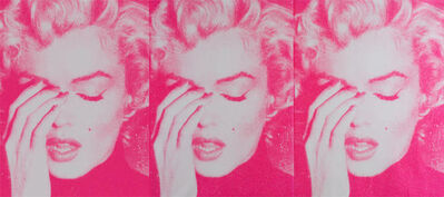 Russell Young, 'Marilyn Crying Triptych, White & Bondage Pink', 2011