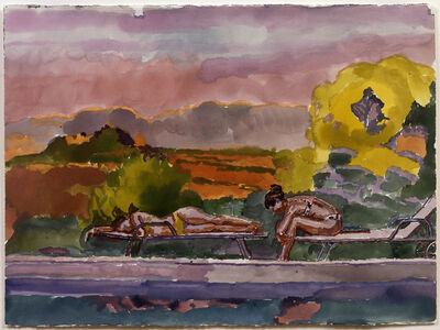 Graham Nickson, 'Usignolo Bathers: Gold Fish and Turtle', 2007