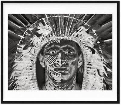 Sebastião Salgado, 'Sebastião Salgado. Amazônia. Limited & Signed Black and White Photographic Print (1-100) 'Adão Yawanawá in a headdress of eagle feathers'', 2017 (Book 2021)