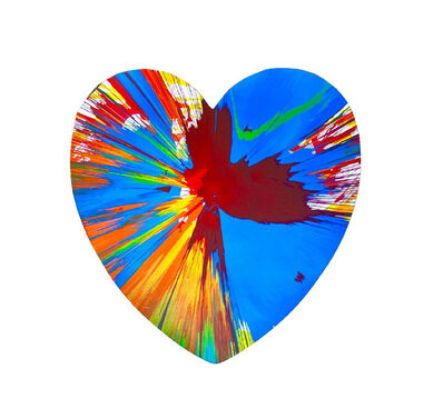 """Damien Hirst, '""""HEART Spin Painting"""", Acrylic on Die-Cut Rag Paper, Stamped Signature, Pinchuk Art Centre Ukraine (Unique)', 2009"""
