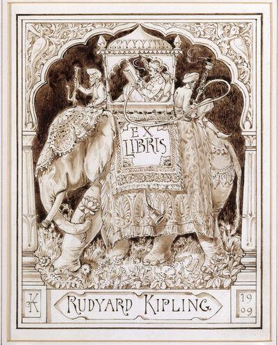John Lockwood Kipling, 'A design for Rudyard Kipling's bookplate', 1909