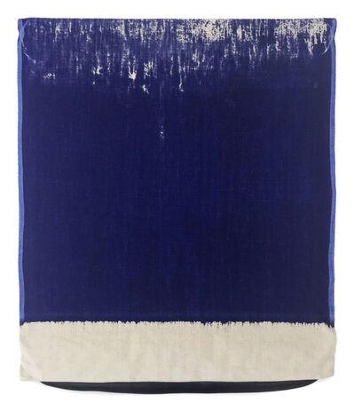 Analía Saban, 'Pressed Paint (Ultramarine Blue)', 2017