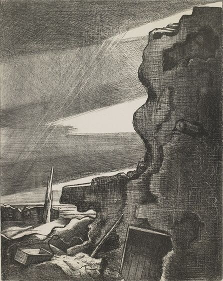 Paul Nash, 'German Double Pill-Box', 1918