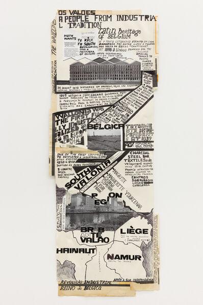 "Carla Filipe, '""Comer papel mastigado - o desejo de compreender o velho continente para cuspir a sua história / Eating chewed paper - the desire to understand the old continent to spit its story"" Untitled 21', 2014"