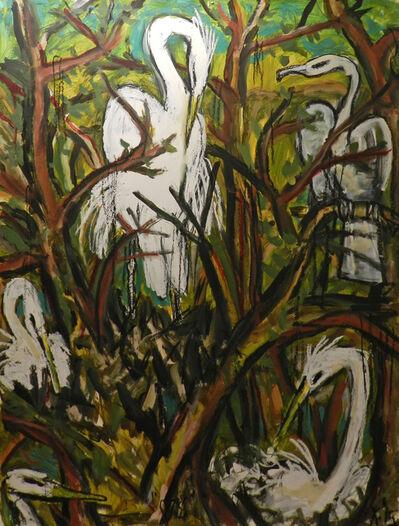 Frank X. Tolbert, 'Snowy Egrets and Herons', 2015