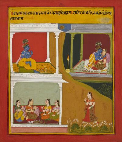 'Multiscene Painting of Radha and Krishan', 1719-1720