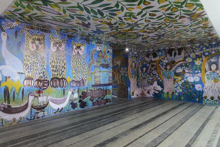 no artist, 'Reproduction of Murals of Polina Raiko House (1928–2004)', 2018