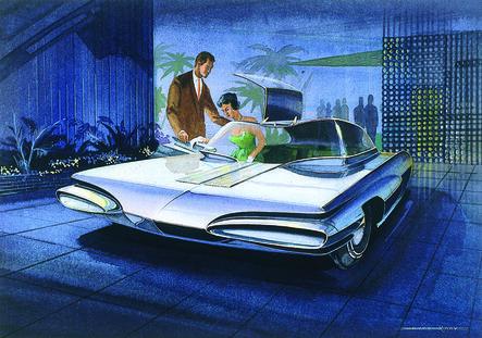 Wayne Kady, 'Concept Gullwing with Stylish Couple', 1960-1961