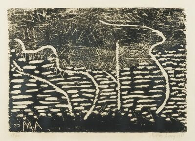Milton Avery, 'Trees by the Sea (black)', 1953