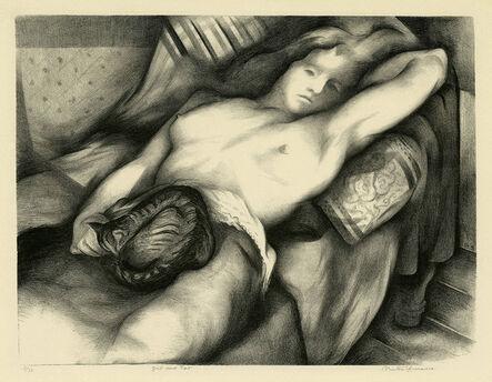 Benton Spruance, 'Girl and Cat', 1935