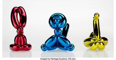 Jeff Koons, 'Balloon Swan (Yellow), Balloon Rabbit (Red), and Balloon Monkey (Blue) (three works)', 2017