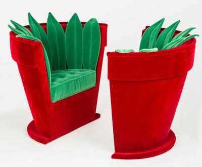 "Hubert Le Gall, 'Pair of ""Pot de fleurs"" Armchairs', 1998"