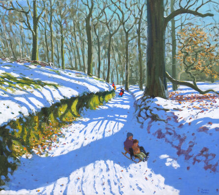 Andrew Macara, 'Sledging down the Track, Osmaston, Derby'