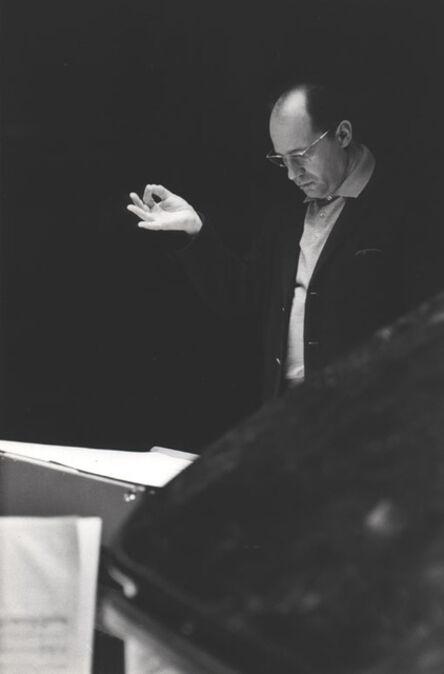 Henri Cartier-Bresson, 'Pierre Boulez, Conductor', Paris 1962