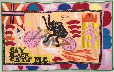 Grayson Perry, 'Gay black cats, MC (2017) (signed)', 2017