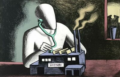 Mark Kostabi, 'Factory', 1985