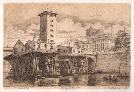 Charles Meryon, 'La Pompe Notre-Dame', 1852