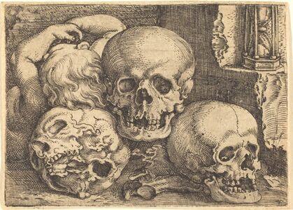 Barthel Beham, 'Child with Three Skulls', 1529