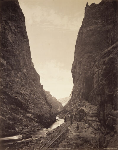William Henry Jackson, 'The Royal Gorge, Grand Canyon of the Arkansas', 1880
