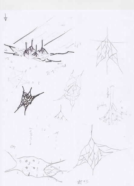 Vito Acconci, 'Sketch for a Bridge in Tasmania IV', 2014