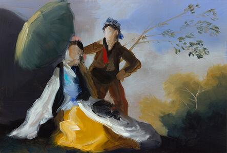 Elise Ansel, 'Green Parasol III', 2015