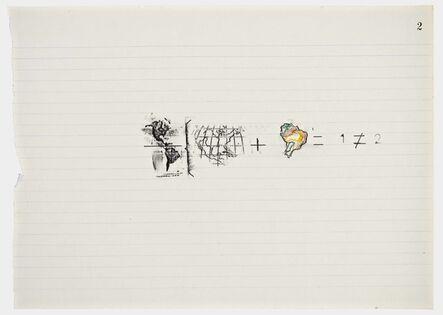 Anna Bella Geiger, 'Equations No 2', 1978