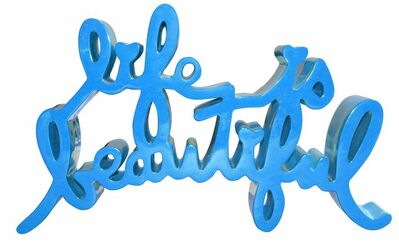 Mr. Brainwash, 'Life is Beautiful (Blue)', 2017