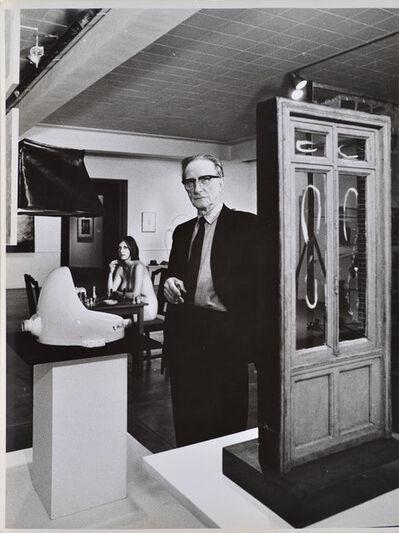 Julian Wasser, 'Marcel Duchamp standing beside Fountain with Eve Babitz in background, Duchamp Retrospective, Pasadena Art Museum,', 1963