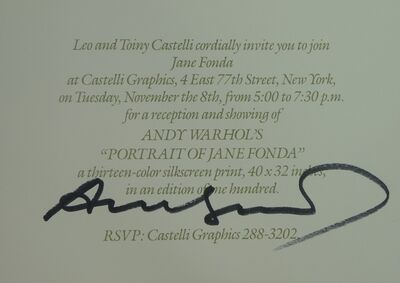 Andy Warhol, 'Portraits of Jane Fonda', 1982