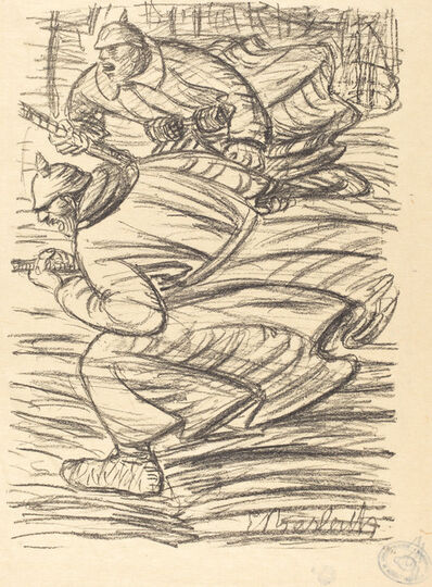 Ernst Barlach, 'The Assault', published 1915