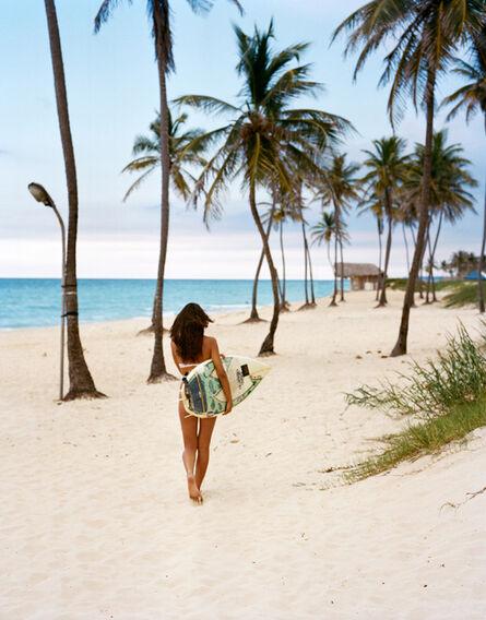 Michael Dweck, 'Rachel going for a surf, Playa del Este', 2009