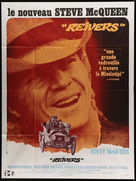 Anon, 'REIVERS French One Sheet Folded Movie Poster '69 close up of rascally Steve McQueen, from William Faulkner's novel!', 1969
