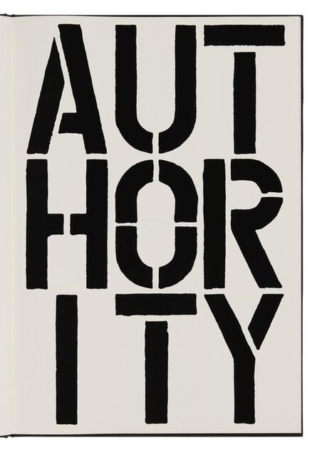Christopher Wool, 'Authority (page from Black Book) ', 1989