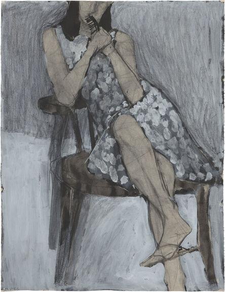Richard Diebenkorn, 'Untitled (Seated Woman, Patterned Dress)', 1966
