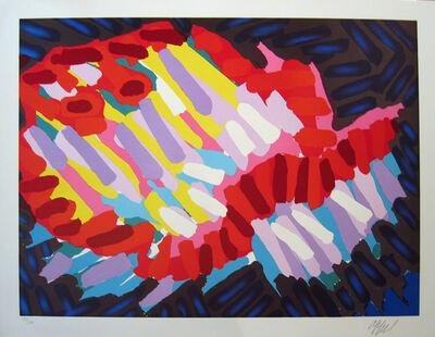 Karel Appel, 'Series of 10-Head on Water', 1978
