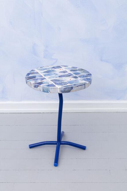 Superpoly, 'Blue White Orange Ceramic Tile Side Table', 2018
