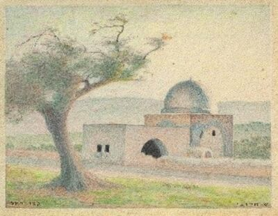 Shmuel Charuvi, 'Rachel's Tomb', Early 20's of the 20th century