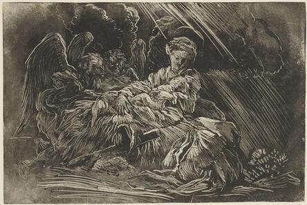 Giovanni Benedetto Castiglione, 'The Nativity with angels', mid-1650's
