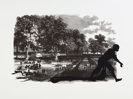 Kara Walker, 'Banks's Army Leaving Simmsport, from Harper's Pictorial History of the Civil War (Annotated)', 2005