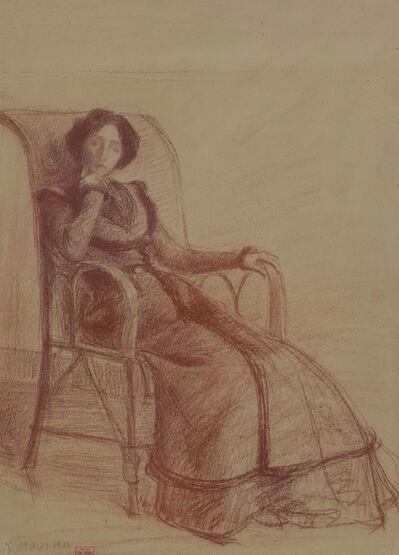 Hippolyte Petitjean, 'Madame Petitjean Assise, 19 mai 1901', 1901