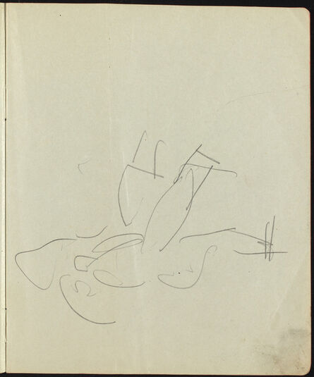 Ernst Ludwig Kirchner, 'Dancers and Performers (Page from a Sketchbook)', ca. 1911