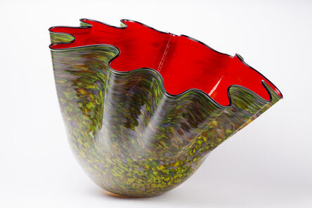 Dale Chihuly, 'Dale Chihuly Original Massive Carmine Macchia with Navy Lip Wrap, 62K appraisal ', 2000